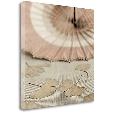 Tangletown Fine Art 'Parasol and Gingko - 2' Graphic Art Print on Wrapped Canvas; 20'' H x 20'' W