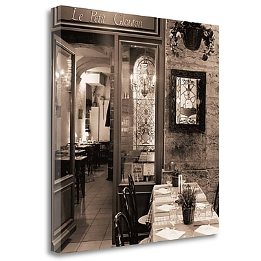 Tangletown Fine Art 'Le Petit Glouton' Photographic Print on Wrapped Canvas; 20'' H x 20'' W