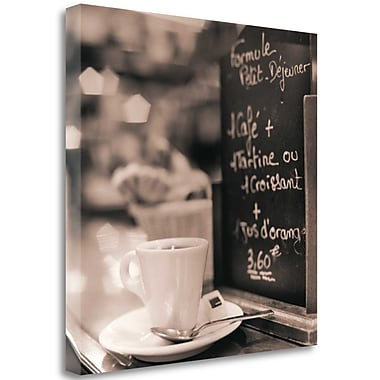 Tangletown Fine Art 'Cafe Champs-Elysees' Photographic Print on Wrapped Canvas; 30'' H x 30'' W