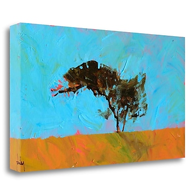 Tangletown Fine Art 'Desert Tree' Print on Wrapped Canvas; 18'' H x 32'' W
