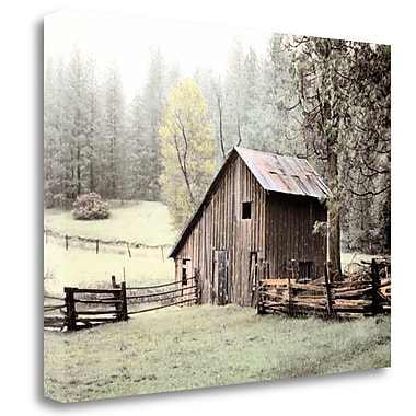 Tangletown Fine Art 'Barn near Sonora' Photographic Print on Wrapped Canvas; 28'' H x 36'' W