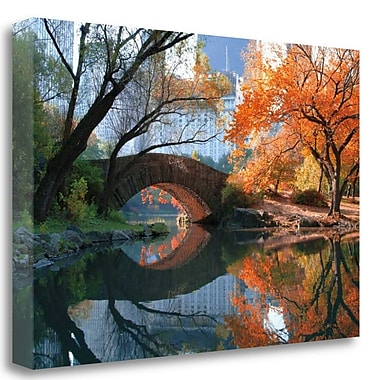 Tangletown Fine Art 'Gapstow Bridge Fall' Graphic Art Print on Wrapped Canvas; 20'' H x 29'' W
