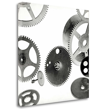 Tangletown Fine Art 'Retro- Gears - 6' Graphic Art Print on Wrapped Canvas; 20'' H x 20'' W
