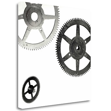 Tangletown Fine Art 'Retro- Gears - 8' Graphic Art Print on Wrapped Canvas; 25'' H x 25'' W