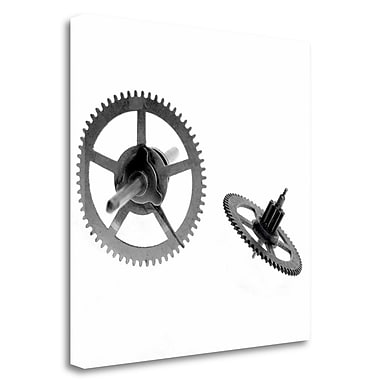 Tangletown Fine Art 'Retro- Gears - 10' Graphic Art Print on Wrapped Canvas; 25'' H x 25'' W