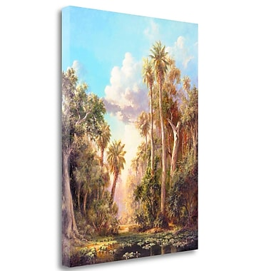 Tangletown Fine Art 'Lost River' Graphic Art Print on Wrapped Canvas; 32'' H x 24'' W