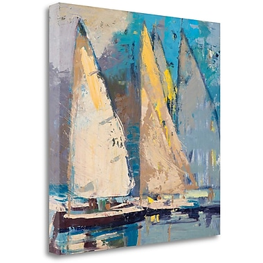 Tangletown Fine Art 'Breeze, Sail and Sky' Painting Print on Wrapped Canvas; 35'' H x 35'' W