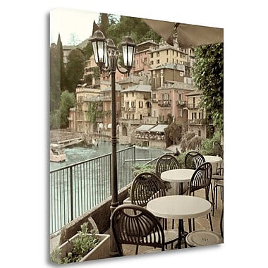 Tangletown Fine Art 'Porto Caffe Italy' Photographic Print on Wrapped Canvas; 30'' H x 30'' W