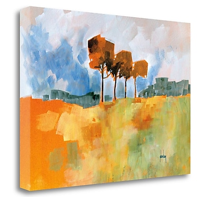 Tangletown Fine Art 'Four Trees' Print on Wrapped Canvas; 18'' H x 24'' W