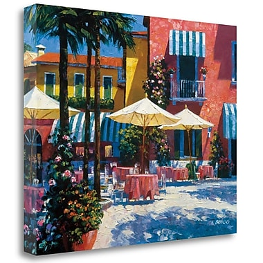 Tangletown Fine Art 'Inn at Lake Garda' Photographic Print on Wrapped Canvas; 25'' H x 31'' W