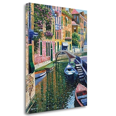 Tangletown Fine Art 'Romantic Canal' Graphic Art Print on Wrapped Canvas; 27'' H x 21'' W