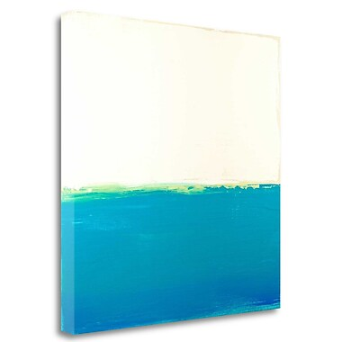 Tangletown Fine Art 'Turquoise Sea' Print on Wrapped Canvas; 30'' H x 30'' W