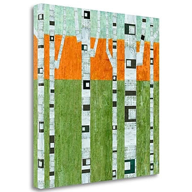 Tangletown Fine Art 'Spring Birches' Graphic Art Print on Wrapped Canvas; 35'' H x 35'' W