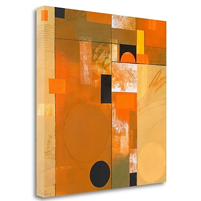 Tangletown Fine Art 'Soleil III' Graphic Art Print on Wrapped Canvas; 25'' H x 25'' W