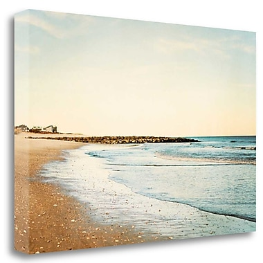 Tangletown Fine Art 'Walking on the Coast' Graphic Art Print on Wrapped Canvas; 20'' H x 29'' W