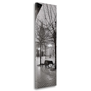 Tangletown Fine Art 'Oviedo Cathedral y Bancs' Graphic Art Print on Wrapped Canvas; 39'' H x 13'' W