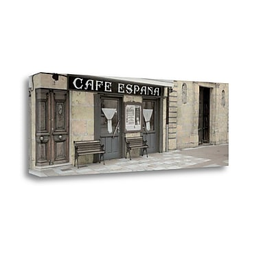 Tangletown Fine Art 'Cafe Espana Pano - 1' Photographic Print on Wrapped Canvas; 13'' H x 39'' W