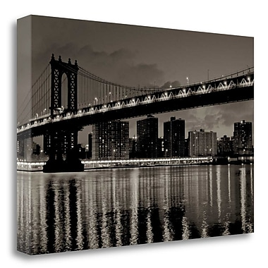 Tangletown Fine Art 'Manhattan' Photographic Print on Wrapped Canvas; 16'' H x 24'' W