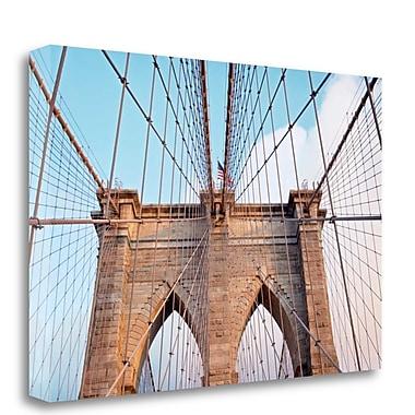 Tangletown Fine Art 'Brooklyn Bridge' Photographic Print on Wrapped Canvas; 21'' H x 32'' W