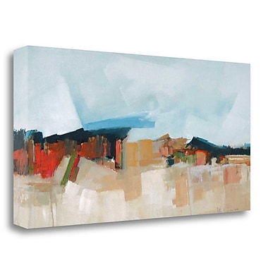 Tangletown Fine Art 'Abstract Landscape' Print on Wrapped Canvas; 20'' H x 40'' W