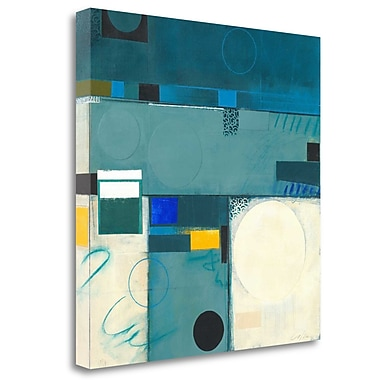 Tangletown Fine Art 'Calypso Blue III' Graphic Art Print on Wrapped Canvas; 25'' H x 25'' W