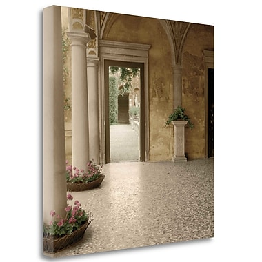 Tangletown Fine Art 'Villa Portico No. 2' Photographic Print on Wrapped Canvas; 20'' H x 20'' W