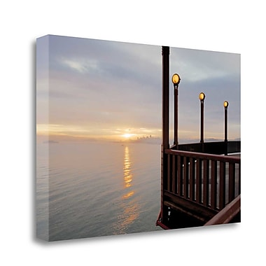 Tangletown Fine Art 'Art Deco Lamposts #3' Photographic Print on Wrapped Canvas; 16'' H x 24'' W
