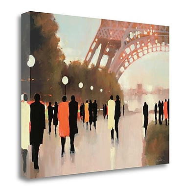 Tangletown Fine Art 'Paris Remembered' Print on Wrapped Canvas; 25'' H x 32'' W