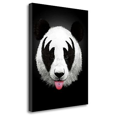 Tangletown Fine Art 'Panda Rocks' Graphic Art Print on Wrapped Canvas; 26'' H x 20'' W
