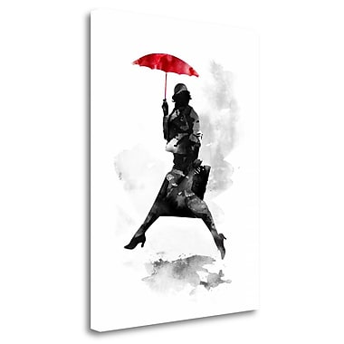 Tangletown Fine Art 'Puddle Jumper' Print on Wrapped Canvas; 40'' H x 30'' W