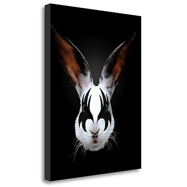 Tangletown Fine Art 'Rabbit Rocks' Graphic Art Print on Wrapped Canvas; 40'' H x 31'' W