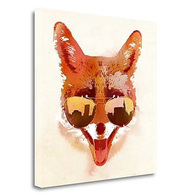 Tangletown Fine Art 'Big Town Fox' Graphic Art Print on Wrapped Canvas; 30'' H x 30'' W
