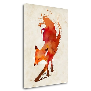 Tangletown Fine Art 'Vulpes Vulpes' Print on Wrapped Canvas; 28'' H x 21'' W