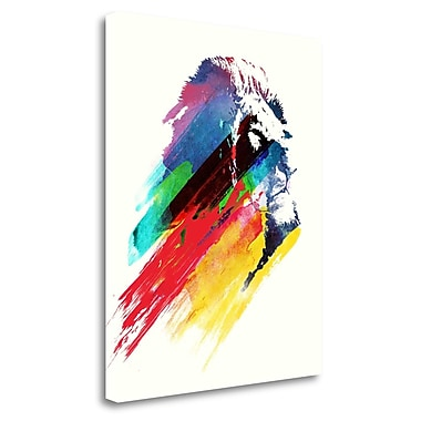 Tangletown Fine Art 'Our Hero' Graphic Art Print on Wrapped Canvas; 32'' H x 26'' W