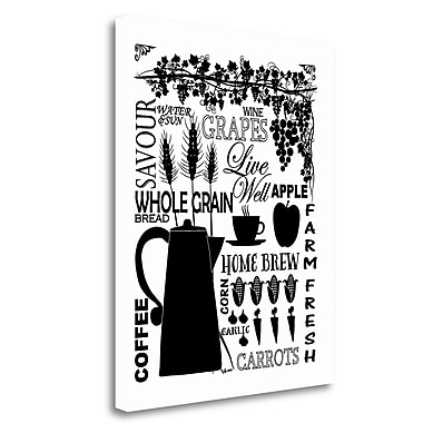 Tangletown Fine Art 'Culinary Love 2' Textual Art on Wrapped Canvas; 32'' H x 26'' W