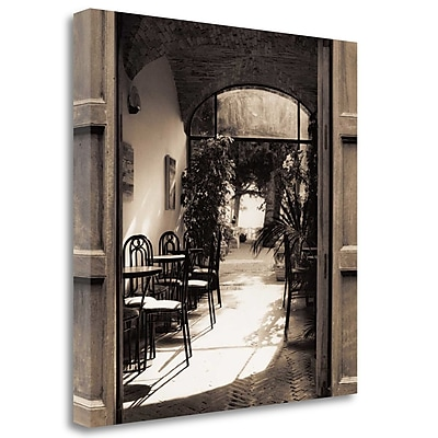Tangletown Fine Art 'Caffe Spello' Photographic Print on Wrapped Canvas; 25'' H x 25'' W