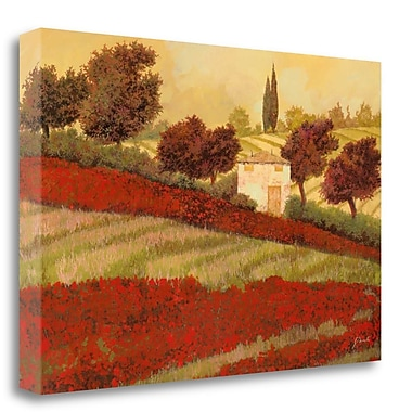 Tangletown Fine Art 'Papaveri Toscana I' Graphic Art Print on Wrapped Canvas; 21'' H x 32'' W
