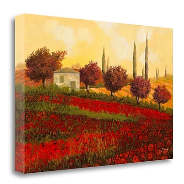 Tangletown Fine Art 'Papaveri Toscana II' Print on Wrapped Canvas; 21'' H x 32'' W