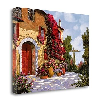 Tangletown Fine Art 'Bouganville' Photographic Print on Wrapped Canvas; 18'' H x 24'' W