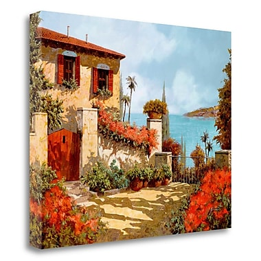 Tangletown Fine Art 'Il Giardino Rosso' Photographic Print on Wrapped Canvas; 22'' H x 28'' W