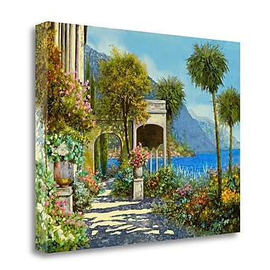 Tangletown Fine Art 'Passeggiata al Lago' Graphic Art Print on Wrapped Canvas; 18'' H x 24'' W