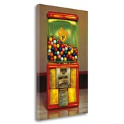 Tangletown Fine Art 'Gumball Machine X' Graphic Art Print on Wrapped Canvas; 48'' H x 31'' W