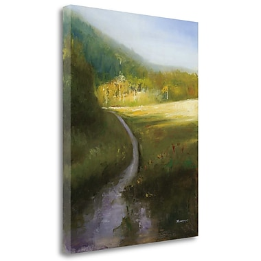 Tangletown Fine Art 'Purple Path' Print on Wrapped Canvas; 36'' H x 28'' W