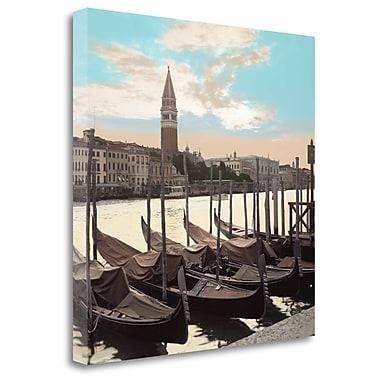 Tangletown Fine Art 'Campanile Vista w/ Gondolas' Photographic Print on Wrapped Canvas