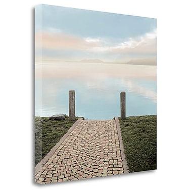 Tangletown Fine Art 'Sunrise Harbor Vista' Photographic Print on Wrapped Canvas; 35'' H x 35'' W