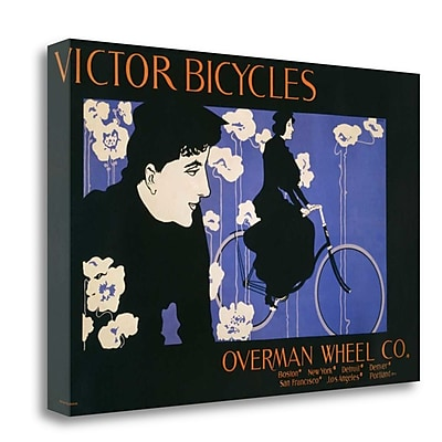 Tangletown Fine Art 'Victor Bicycles' Vintage Advertisement on Wrapped Canvas; 20'' H x 31'' W