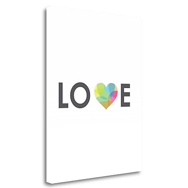 Tangletown Fine Art 'Love' Textual Art on Wrapped Canvas; 28'' H x 22'' W