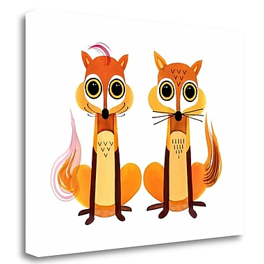 Tangletown Fine Art 'Foxy Foxes' Graphic Art Print on Wrapped Canvas; 21'' H x 28'' W