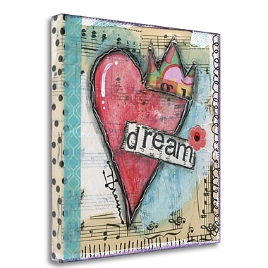 Tangletown Fine Art 'Dream' Graphic Art Print on Wrapped Canvas; 25'' H x 25'' W