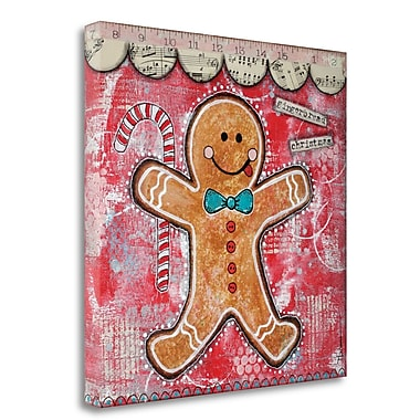 Tangletown Fine Art 'Gingerbread Xmas' Graphic Art Print on Wrapped Canvas; 25'' H x 25'' W